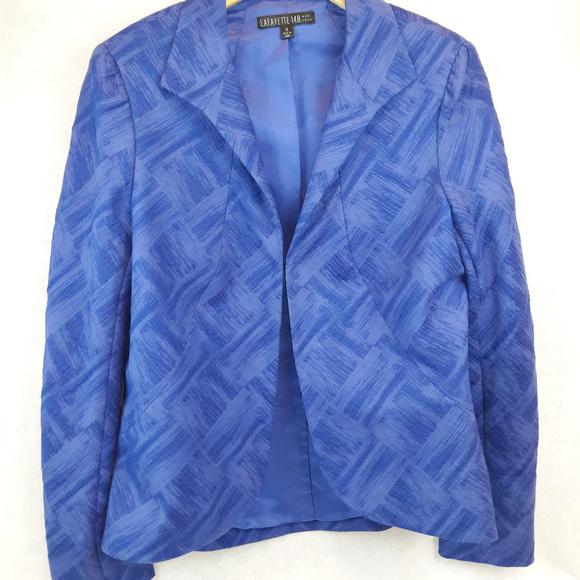 Lafayette 148 New York Jackets & Blazers - Lafayette 148 Brushstroke Textured Blazer Sz 12